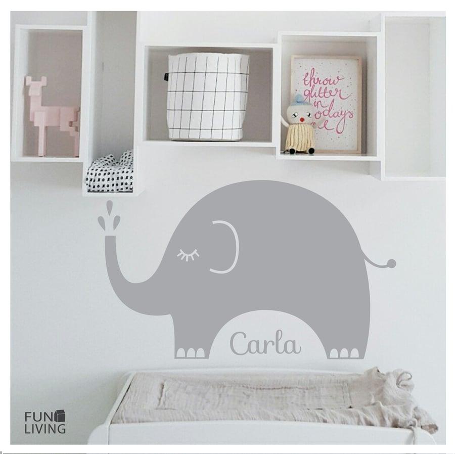 Image of Vinilo Elefante personalizado con nombre
