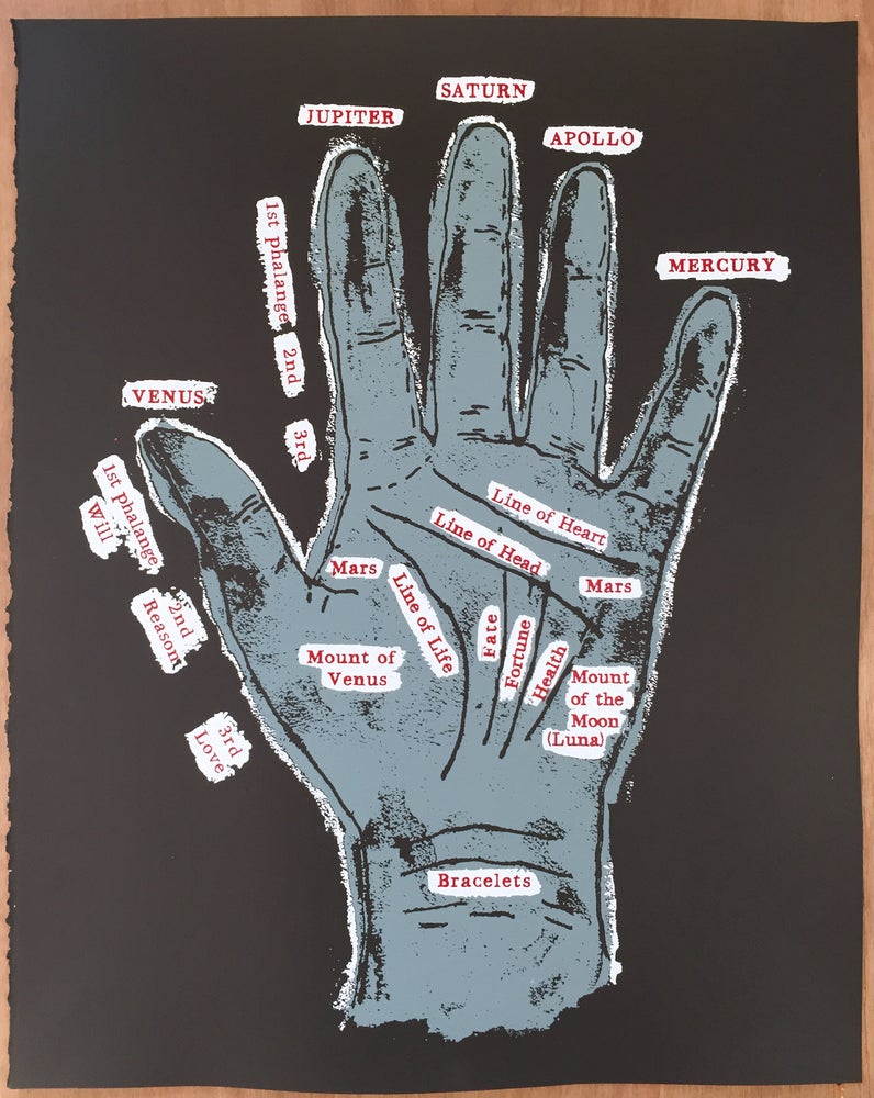 Image of Hand of Fate - Gypsy Palm Reading Screen Print