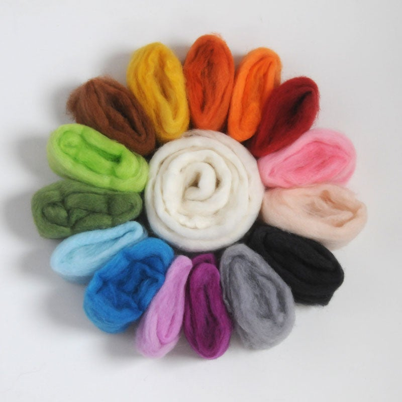 Colour Wheel - hand dyed wool