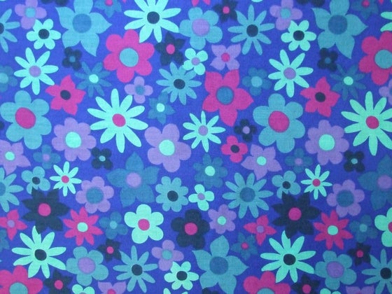 Image of blue floral dekoplus - fat quarter