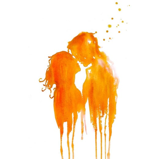 The Kiss (Orange)