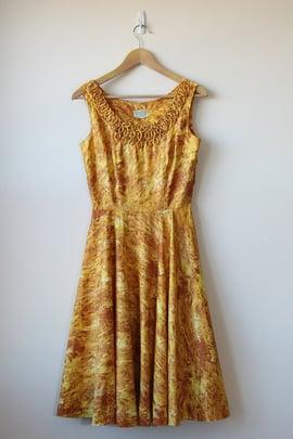 Image of SOLD Golden Flames Dress