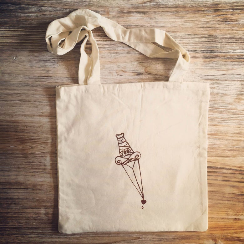 Image of BLOOD DAGGER tote bag