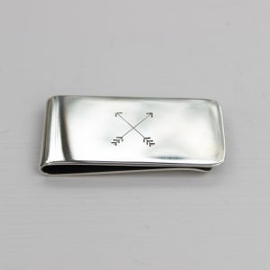 Image of men's arrow money clip