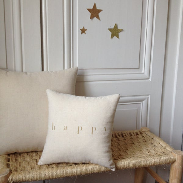 Image of coussin écru happy small