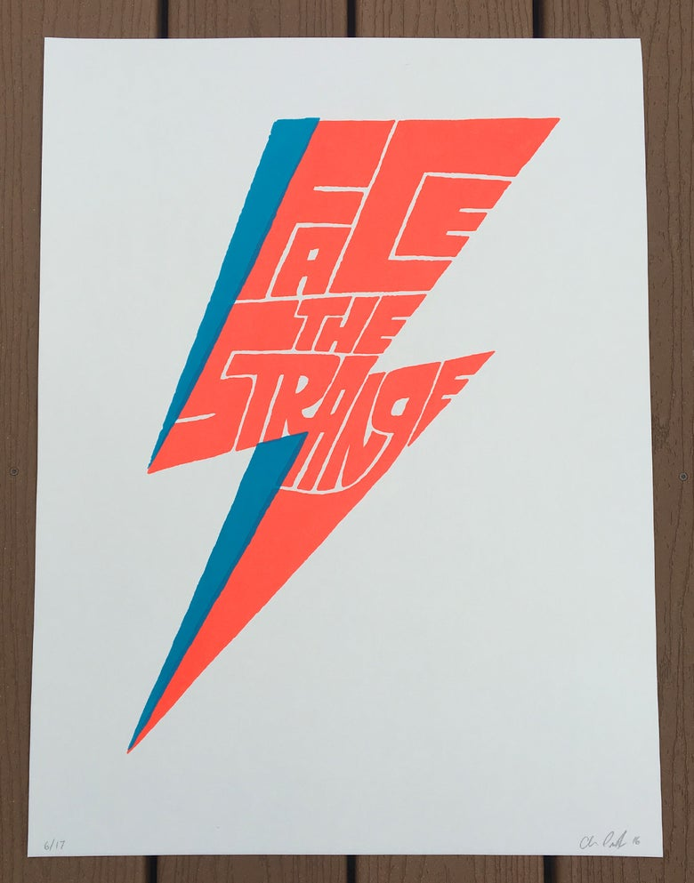 Image of 'Face The Strange' serigraph