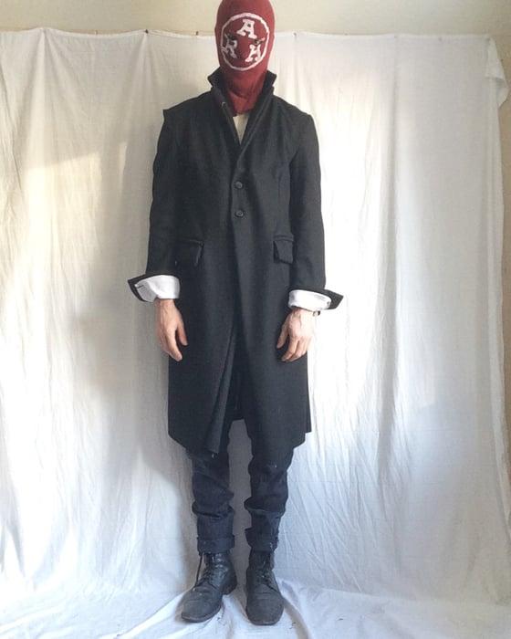 Image of Raw hem Sunday long coat (Made to order)