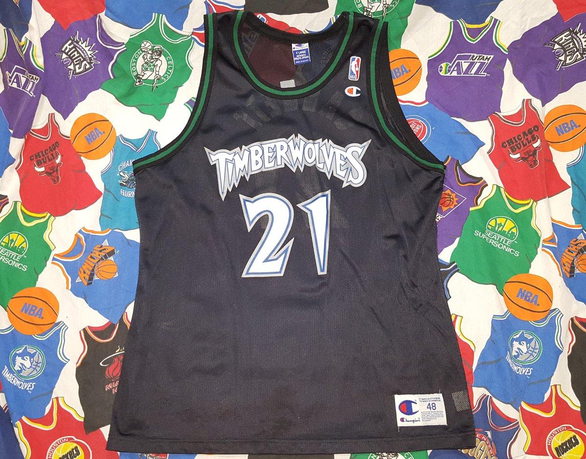 fad34924439 Vintage Size 48 (XL) Minnesota Timberwolves Kevin Garnett Champion Jersey