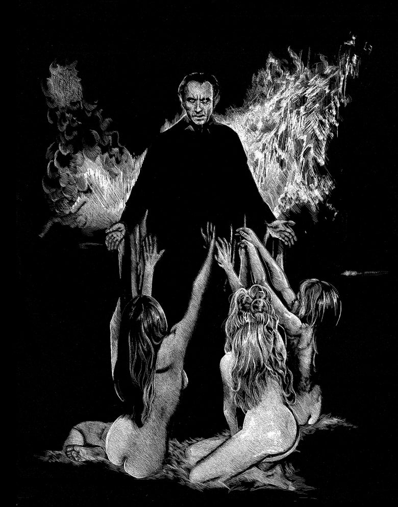 Image of Hammer Horror's TASTE THE BLOOD OF DRACULA Limited Ed. Print
