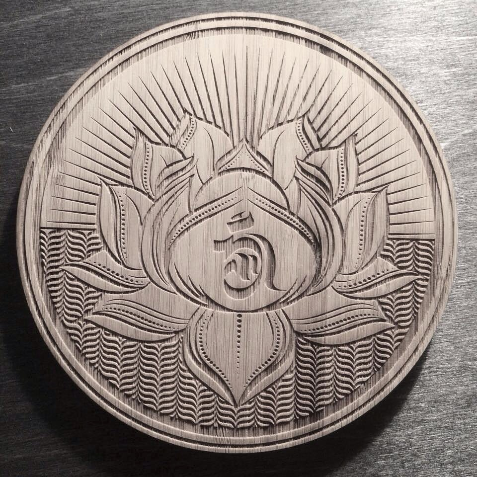 Image of Lotus Engraving
