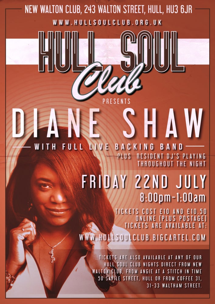 Image of Diane Shaw live at Hull Soul Club