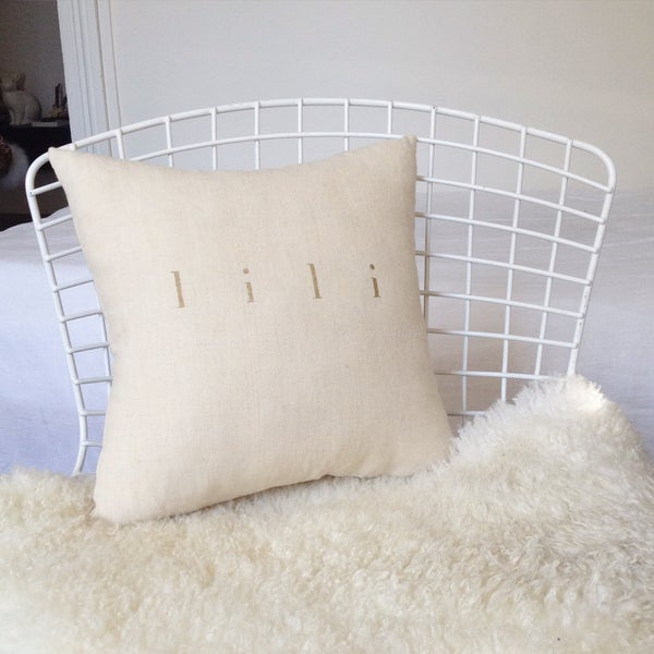 Image of coussin small écru  à personnaliser✨