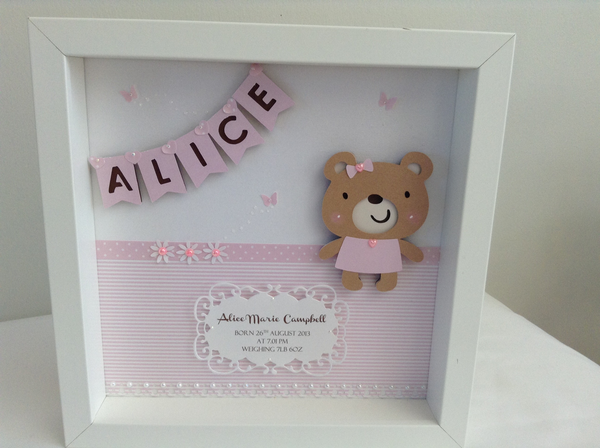 Image of Personalised Teddy Frame