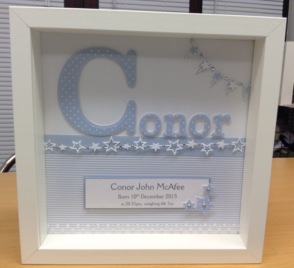 Hannah\'s Handmade Cards — Personalised Baby Name Frame