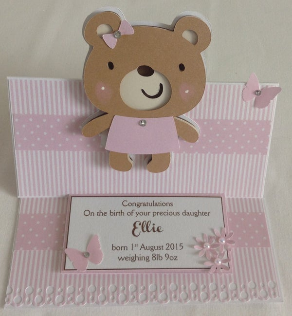 Image of Personalised Teddy Card