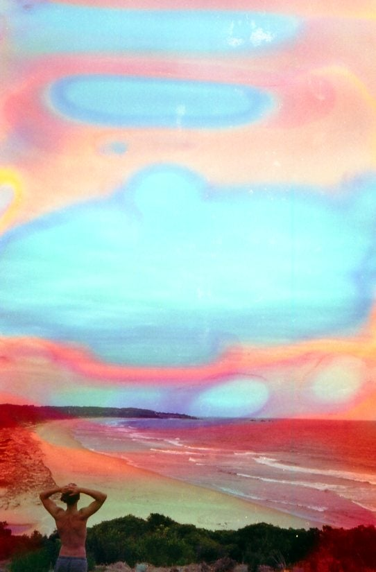 Image of land, sea, sky