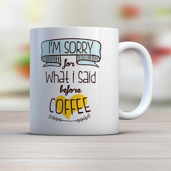 "Image of Mug ""SORRY"""