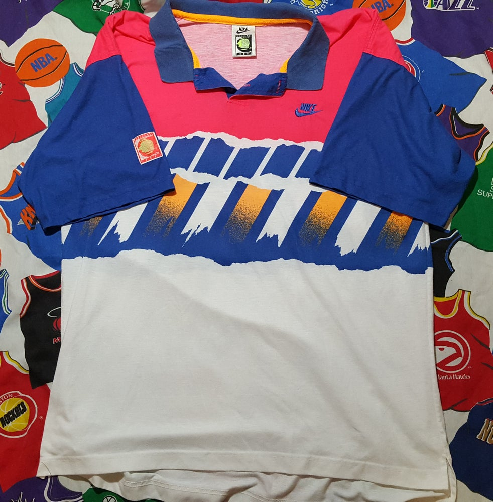 brand new 7d489 6b629 Image of Rare Vintage 1990s Nike Challenge Court Agassi Polo Size XL