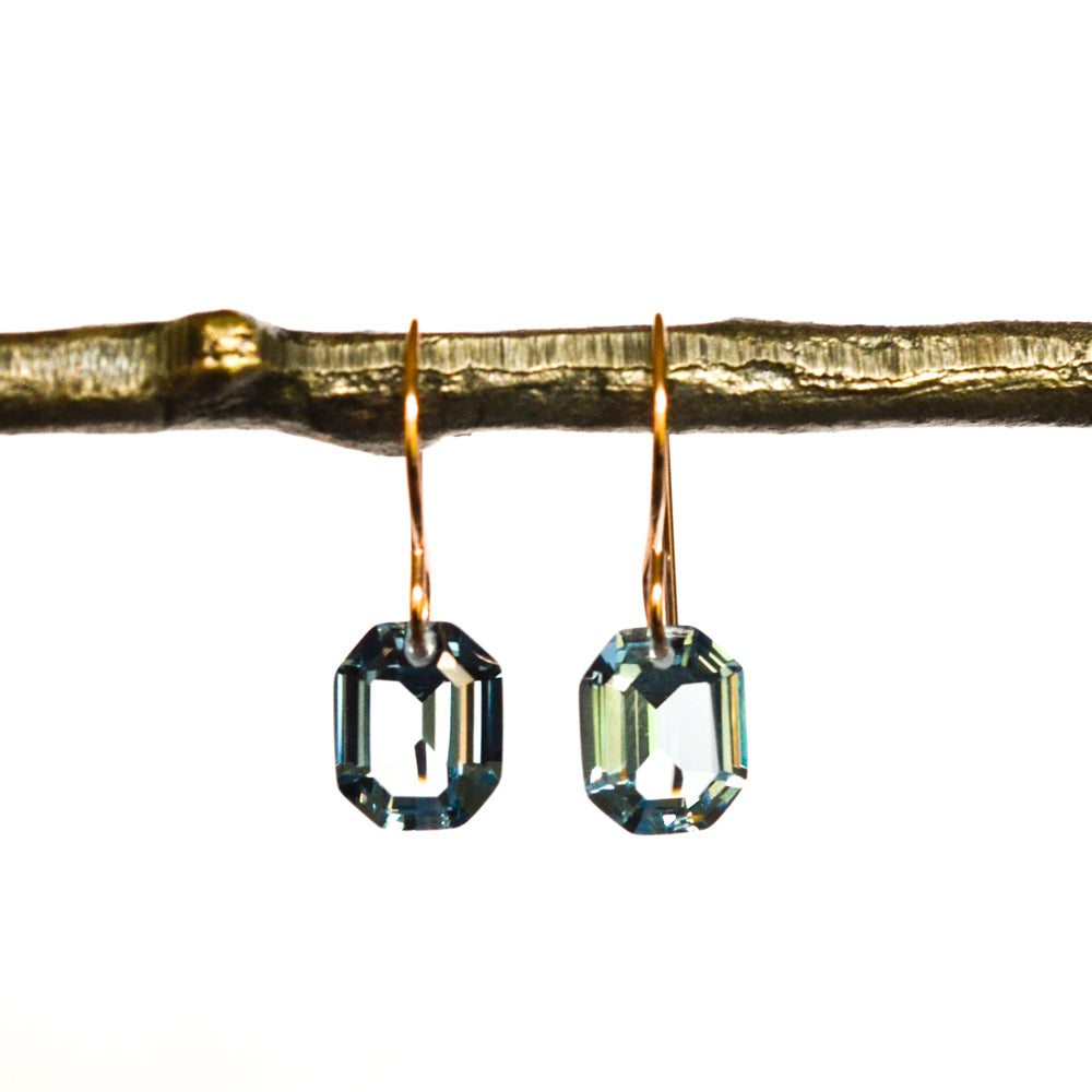 Image of Blue octagon earrings