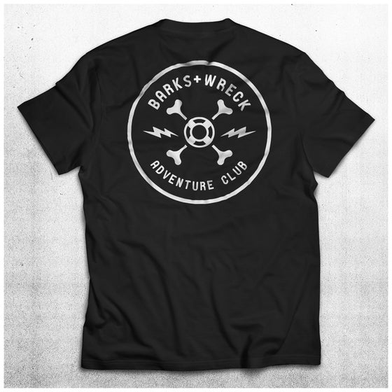 Image of ADVENTURE CLUB Pocket T-Shirt:  BLACK
