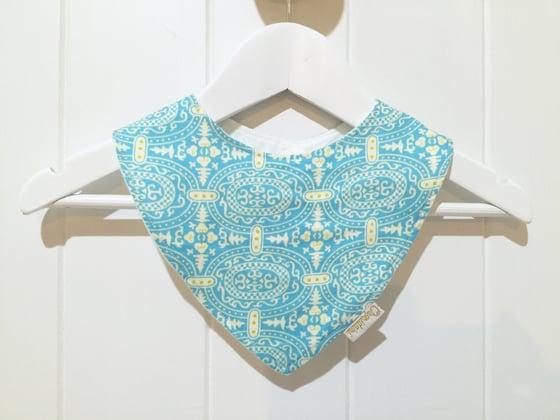 Image of Aqua Tile - Bandana Bib