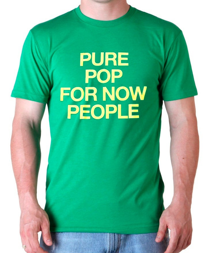 """Image of NICK LOWE """"PURE POP FOR NOW PEOPLE"""" T-SHIRT"""