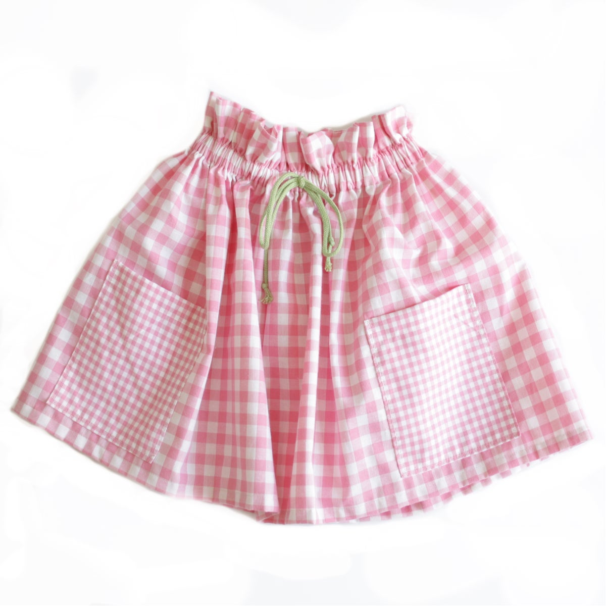Market Skirt-pink check
