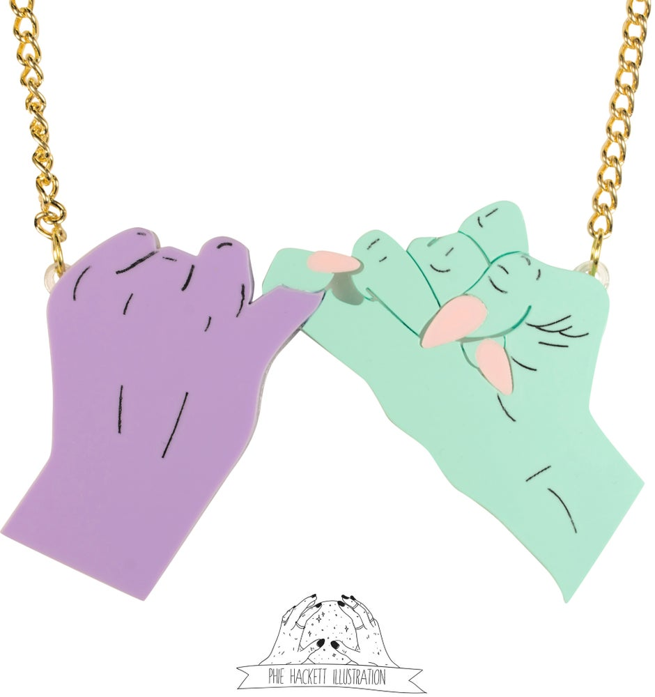 Image of Pinky Swear Necklace Phie Hackett & Black Heart Creatives Collaboration