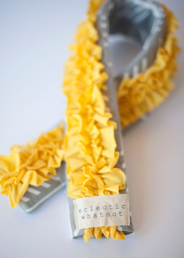 Image of Lemon Drop - Ruffled, dSLR Camera Strap Cover