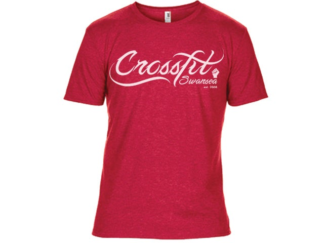 Image of CrossFit Swansea Script Shirt Red