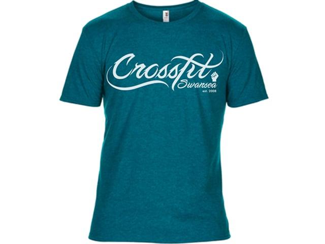Image of CrossFit Swansea Script Shirt Blue