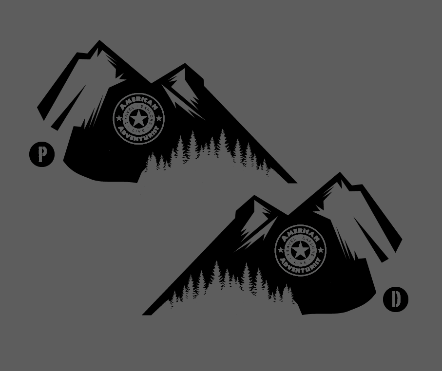 Image of American Adventurist Mountains Decal