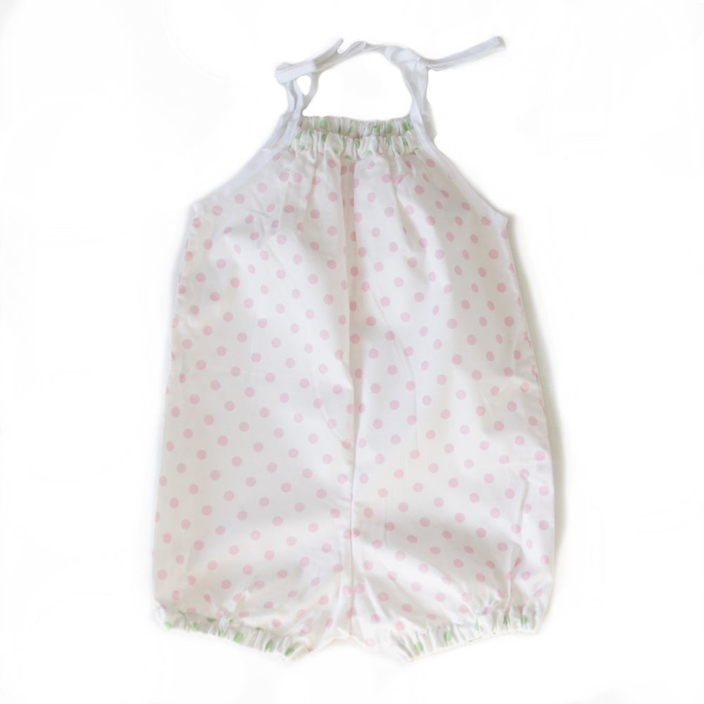 Image of 50s Playsuit-pink dot
