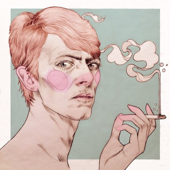 Image of David Bowie digital print