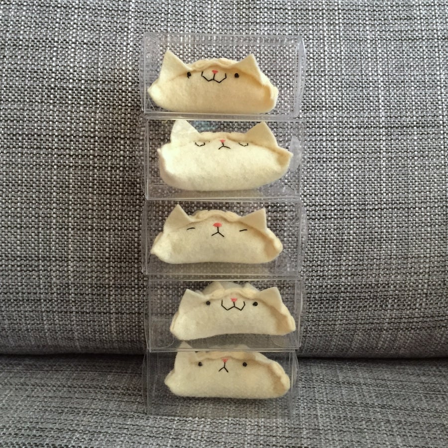 Image of cat dumplings! (ready to ship)