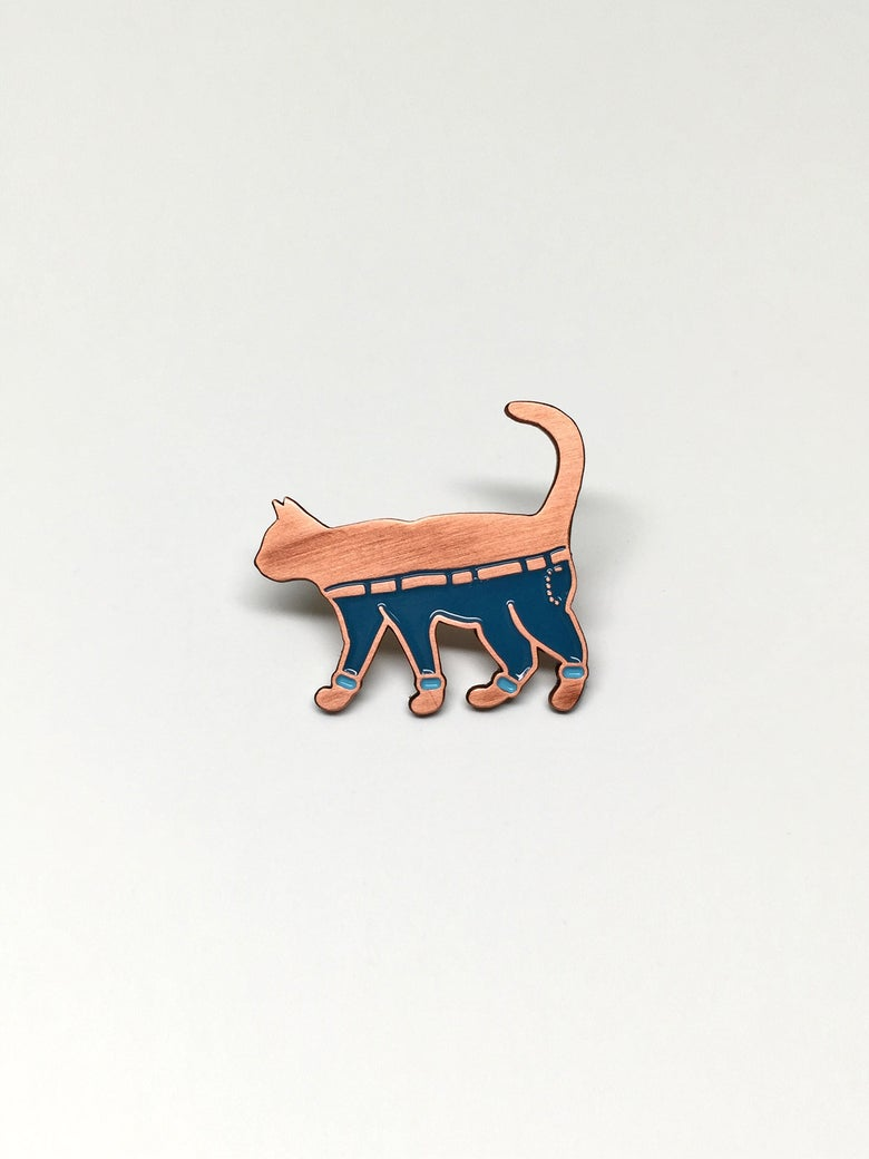 Image of Cat Pants Pin