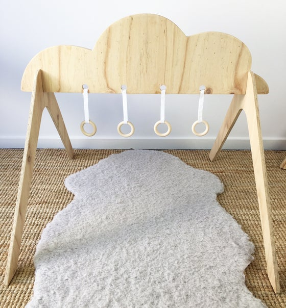 Image of Wooden Activity Gym - Cloud
