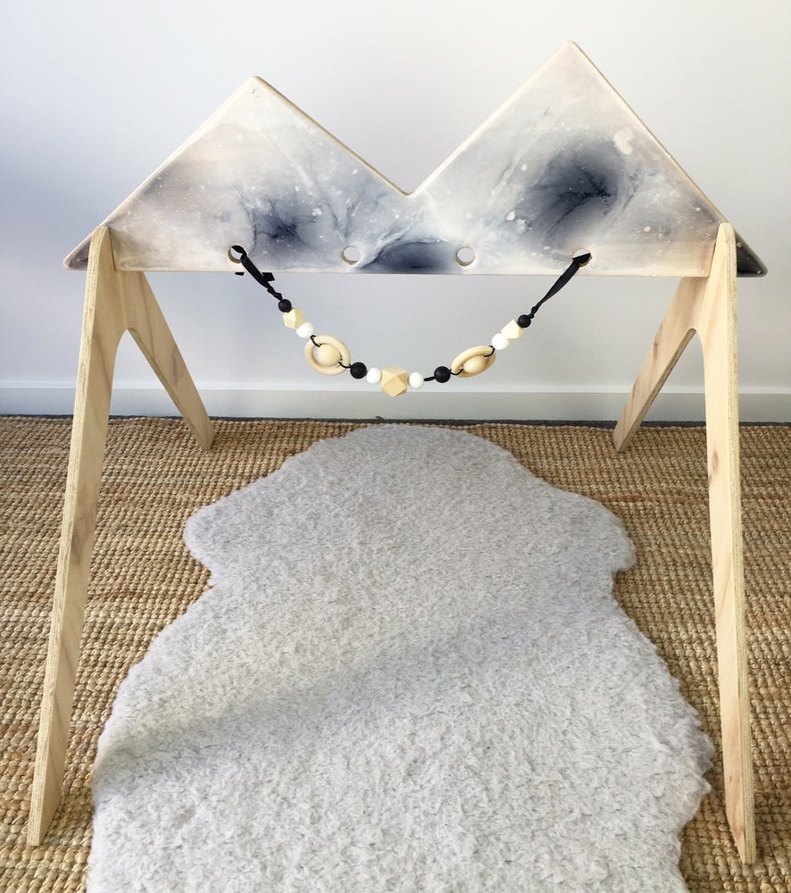 Image of *LIMITED EDITION* - WOODEN ACTIVITY GYM - RESIN FINISH