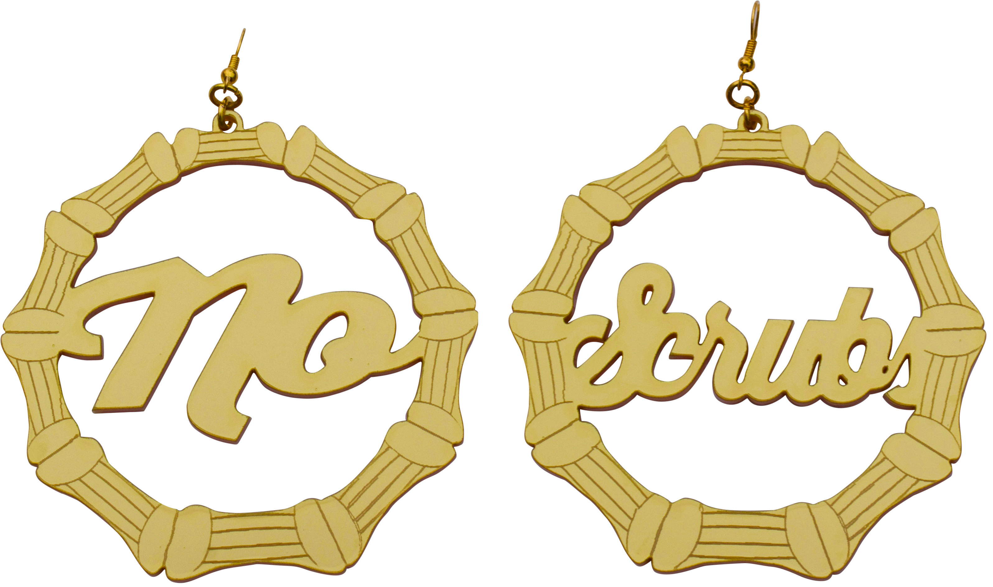 cc drop matte earrings gold chanel