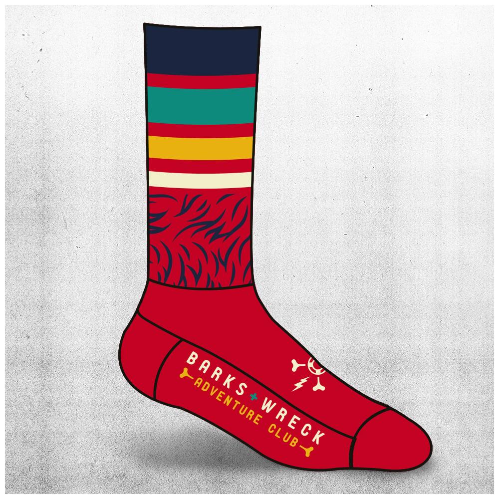 Image of ADVENTURE CLUB Socks: RED