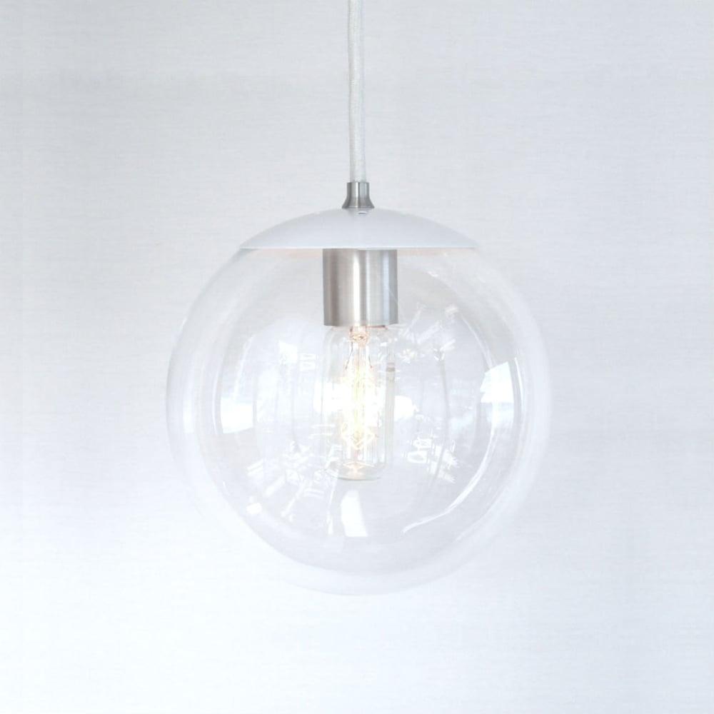 Adapted for intl use white orbiter 8 mid century modern 8 clear glass globe pendant light