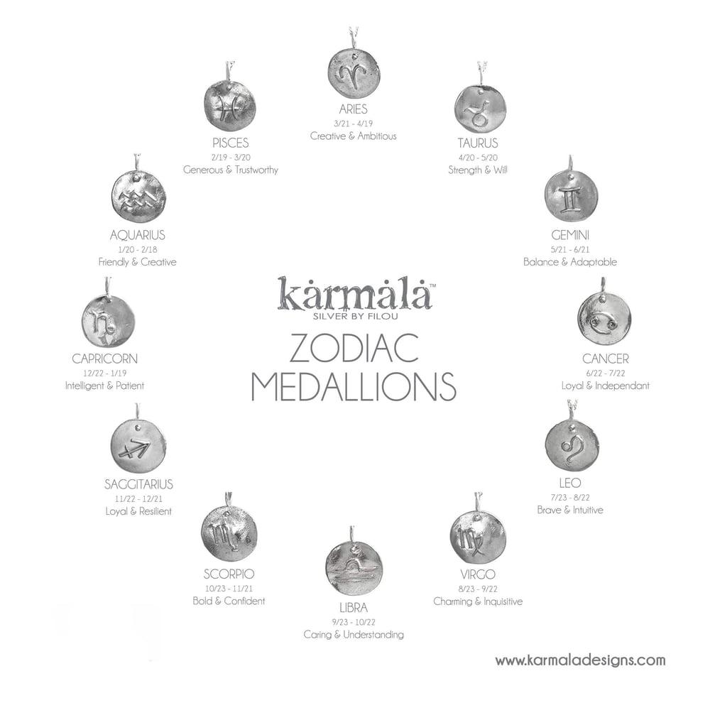 Image of Zodiac Medallion Necklaces