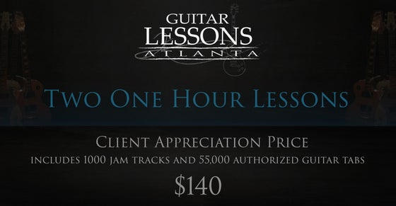 Image of Two One Hour Guitar Lessons (Current Students Only)