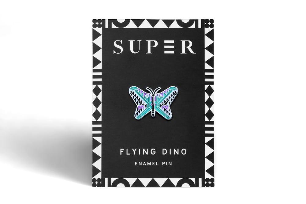 Image of Flying Dino Enamel Pin