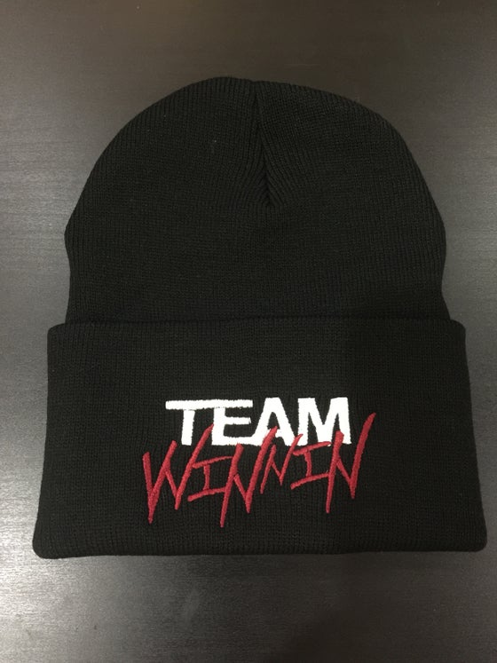 "Image of ""TEAM WINNIN"" Beanies (Color options in drop dow menu OR EMAIL TO REQUEST)"