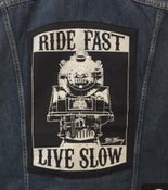 "Image of ""RIDE FAST, LIVE SLOW"" -BACK PATCH"