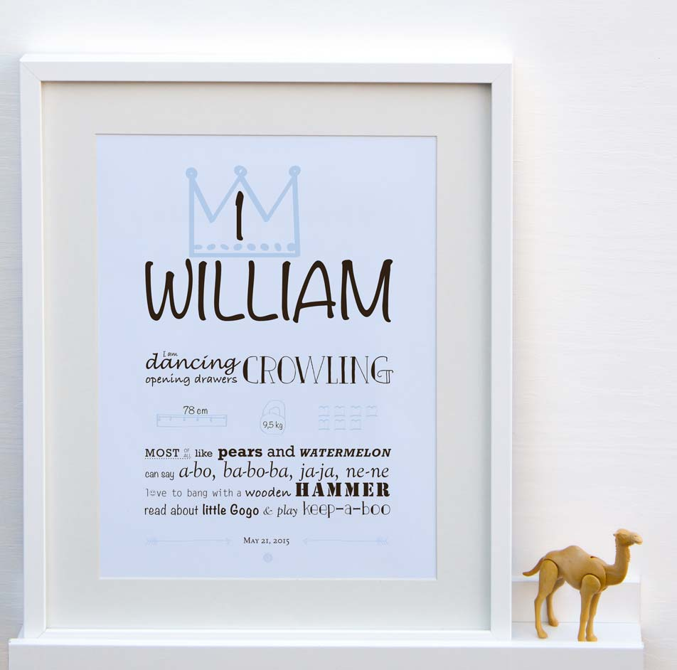 Image of Personalized birthday poster - 1 year
