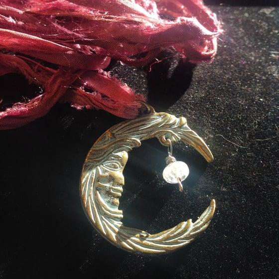 Image of Whimsical Moon Goddess with Moonstone