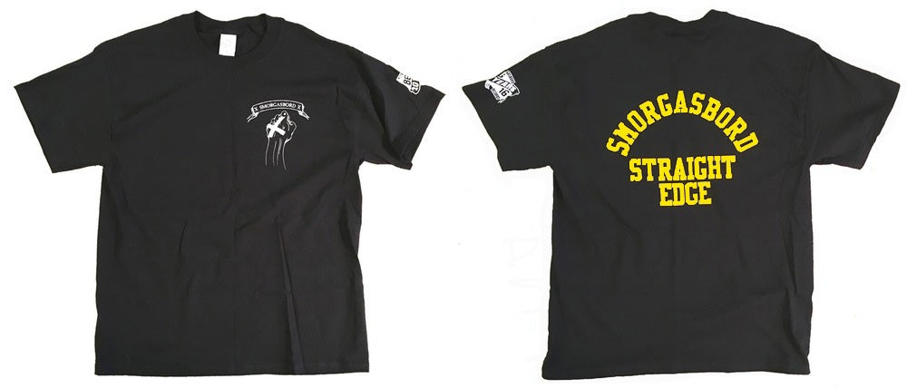 Image of SMORGASBORD STRAIGHT EDGE Shirt - Black/Yellow