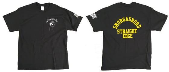 Image of SMORGASBORD STRAIGHT EDGE Shirt - Black/Yellow